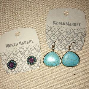 Cost Plus World Market Bundle Earrings